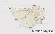 Shaded Relief Panoramic Map of Istra, cropped outside