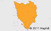 Political Simple Map of Istra, cropped outside