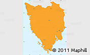 Political Simple Map of Istra, single color outside