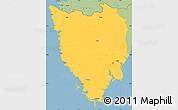 Savanna Style Simple Map of Istra