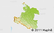 Physical 3D Map of Karlovac, single color outside