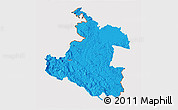Political 3D Map of Karlovac, cropped outside