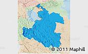 Political 3D Map of Karlovac, lighten