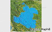 Political 3D Map of Karlovac, satellite outside