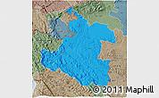 Political 3D Map of Karlovac, semi-desaturated