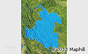Political Map of Karlovac, satellite outside
