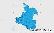 Political Map of Karlovac, single color outside