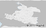 Gray Panoramic Map of Karlovac, single color outside