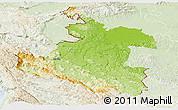 Physical Panoramic Map of Karlovac, lighten