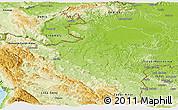Physical Panoramic Map of Karlovac