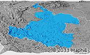 Political Panoramic Map of Karlovac, desaturated