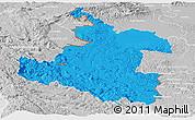 Political Panoramic Map of Karlovac, lighten, desaturated