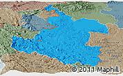 Political Panoramic Map of Karlovac, semi-desaturated