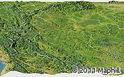 Satellite Panoramic Map of Karlovac