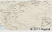 Shaded Relief Panoramic Map of Karlovac
