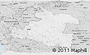 Silver Style Panoramic Map of Karlovac
