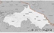 Gray 3D Map of Koprivnica-Krizevci