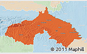 Political 3D Map of Koprivnica-Krizevci, lighten