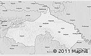 Silver Style 3D Map of Koprivnica-Krizevci