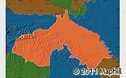Political Map of Koprivnica-Krizevci, darken