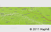 Physical Panoramic Map of Koprivnica-Krizevci