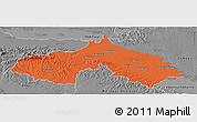 Political Panoramic Map of Koprivnica-Krizevci, desaturated