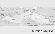 Silver Style Panoramic Map of Koprivnica-Krizevci