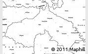 Blank Simple Map of Koprivnica-Krizevci