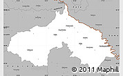 Gray Simple Map of Koprivnica-Krizevci