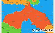Political Simple Map of Koprivnica-Krizevci