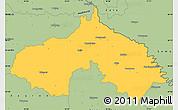 Savanna Style Simple Map of Koprivnica-Krizevci