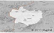 Gray 3D Map of Krapina-Zagorje