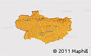 Political 3D Map of Krapina-Zagorje, cropped outside