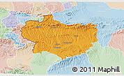 Political 3D Map of Krapina-Zagorje, lighten