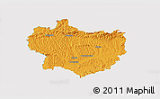 Political 3D Map of Krapina-Zagorje, single color outside