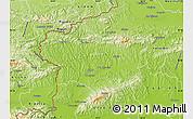 Physical Map of Krapina-Zagorje