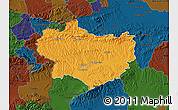 Political Map of Krapina-Zagorje, darken