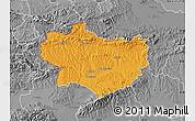 Political Map of Krapina-Zagorje, desaturated