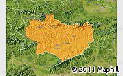 Political Map of Krapina-Zagorje, satellite outside