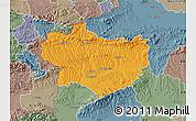 Political Map of Krapina-Zagorje, semi-desaturated