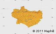 Political Map of Krapina-Zagorje, single color outside