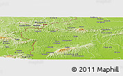 Physical Panoramic Map of Krapina-Zagorje