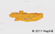 Political Panoramic Map of Krapina-Zagorje, cropped outside