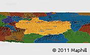 Political Panoramic Map of Krapina-Zagorje, darken