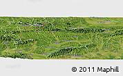 Satellite Panoramic Map of Krapina-Zagorje