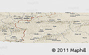 Shaded Relief Panoramic Map of Krapina-Zagorje