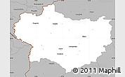 Gray Simple Map of Krapina-Zagorje