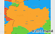 Political Simple Map of Krapina-Zagorje