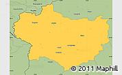 Savanna Style Simple Map of Krapina-Zagorje