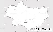 Silver Style Simple Map of Krapina-Zagorje, cropped outside
